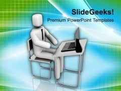 Follow The Technology For Better Business PowerPoint Templates Ppt Backgrounds For Slides 0613