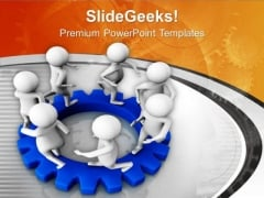 Follow Your Circle For Business Growth PowerPoint Templates Ppt Backgrounds For Slides 0613