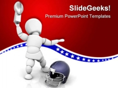 Foot Ball Champion Sports PowerPoint Templates And PowerPoint Backgrounds 0411