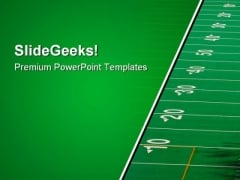 Football Field Sports PowerPoint Themes And PowerPoint Slides 0911
