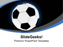 Football For Game Theme PowerPoint Templates Ppt Backgrounds For Slides 0413