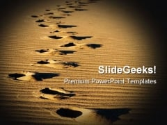 Footprints People PowerPoint Templates And PowerPoint Backgrounds 0811