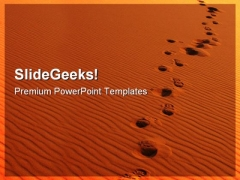 Footsteps In Sahara Desert Holidays PowerPoint Themes And PowerPoint Slides 0711