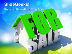 For Sale Realestate PowerPoint Templates And PowerPoint Backgrounds 0711