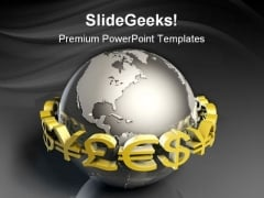 Foreign Currency Exchange Globe PowerPoint Templates And PowerPoint Backgrounds 0311