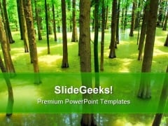 Forest Nature PowerPoint Template 1110