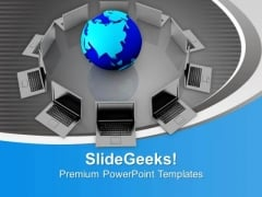 Format Of World Computer Network PowerPoint Templates Ppt Backgrounds For Slides 0713