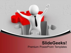 Found The Right Solution To The Problem PowerPoint Templates Ppt Backgrounds For Slides 0713