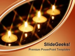 Four Candles Festival PowerPoint Themes And PowerPoint Slides 0611
