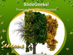 Four Seasons Nature PowerPoint Themes And PowerPoint Slides 0411