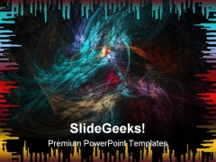 Fractal Abstract Background PowerPoint Templates And PowerPoint Backgrounds 0611