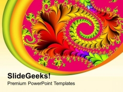 Fractal Abstract Background PowerPoint Templates Ppt Backgrounds For Slides 0513