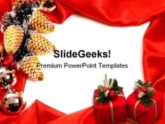 Frame Christmas PowerPoint Template 0610
