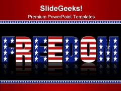 Freedom Background Americana PowerPoint Templates And PowerPoint Backgrounds 0611
