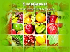 Fresh And Healthy Fruits Food PowerPoint Themes And PowerPoint Slides 0711