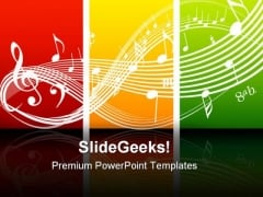 Fresh Music Theme Symbol PowerPoint Themes And PowerPoint Slides 0611