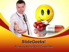 Friendly Doctor Medical PowerPoint Backgrounds And Templates 0111