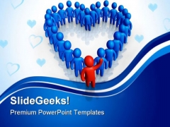 Friendly Support Symbol People PowerPoint Templates And PowerPoint Backgrounds 0411