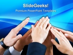 Friendship And Support Business PowerPoint Themes And PowerPoint Slides 0711