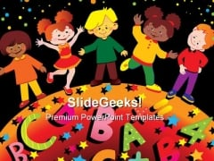 Friendship Children Global PowerPoint Themes And PowerPoint Slides 0411