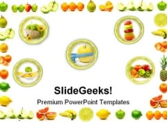 Fruit Border Food PowerPoint Themes And PowerPoint Slides 0411