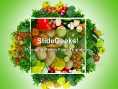 Fruits And Vegetables Health PowerPoint Themes And PowerPoint Slides 0511