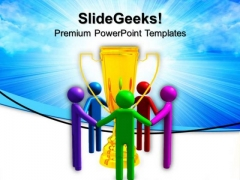 Full Spectrum Trophy Team People PowerPoint Templates And PowerPoint Themes 0812