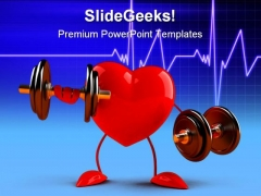 Fun Heart Health PowerPoint Templates And PowerPoint Backgrounds 0611