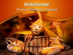 Fun In Autumn Nature PowerPoint Template 1010