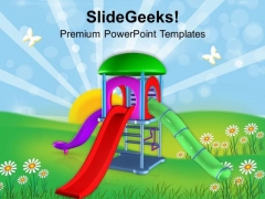 Fun Time At Playground PowerPoint Templates Ppt Backgrounds For Slides 0513