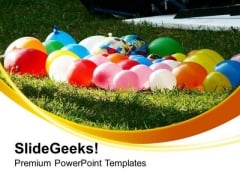 Fun Time With Water Balloons PowerPoint Templates Ppt Backgrounds For Slides 0513