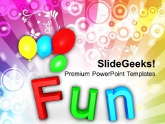 Fun With Colorful Balloons Holidays PowerPoint Templates Ppt Backgrounds For Slides 0213