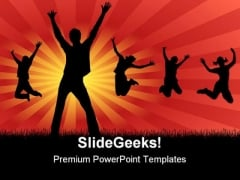 Funny Friends Entertainment PowerPoint Themes And PowerPoint Slides 0511