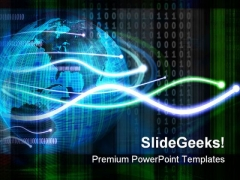 Futurisic Map With Code Globe PowerPoint Themes And PowerPoint Slides 0411