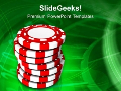 Gambling Chips Game Theme PowerPoint Templates Ppt Backgrounds For Slides 0413