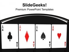 Gambling Concept With Poker Cards PowerPoint Templates Ppt Backgrounds For Slides 0513