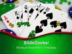 Gambling Game PowerPoint Themes And PowerPoint Slides 0811