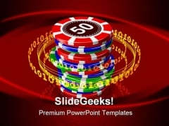 Gambling Sports PowerPoint Template 0610