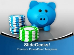 Gambling With Saved Money PowerPoint Templates Ppt Backgrounds For Slides 0713