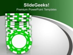 Gaming Casino Chips Success PowerPoint Templates Ppt Backgrounds For Slides 0313