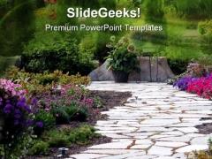 Garden Nature PowerPoint Template 0610