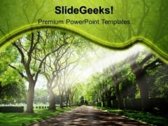 Garden Pathway Nature PowerPoint Templates And PowerPoint Themes 0512