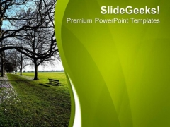 Garden Picture With Green Background PowerPoint Templates Ppt Backgrounds For Slides 0713