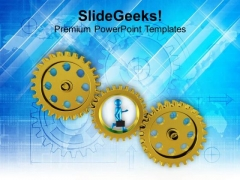 Gear Business And Marketing PowerPoint Templates Ppt Backgrounds For Slides 0613