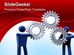 Gear Business Industrial PowerPoint Themes And PowerPoint Slides 0411