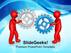 Gear Process With Joint Effort PowerPoint Templates Ppt Backgrounds For Slides 0613