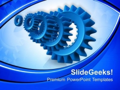 Gear Technology Is Symbol For Continuity PowerPoint Templates Ppt Backgrounds For Slides 0613