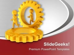 Gear The Individual Process PowerPoint Templates Ppt Backgrounds For Slides 0613