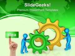 Gear The Partnership In Business PowerPoint Templates Ppt Backgrounds For Slides 0613