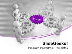 Gear The Process In Business PowerPoint Templates Ppt Backgrounds For Slides 0613